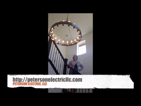 Customer Review, Hanging 23 Foot Entry Chandelier By Peterson Electric, LLC