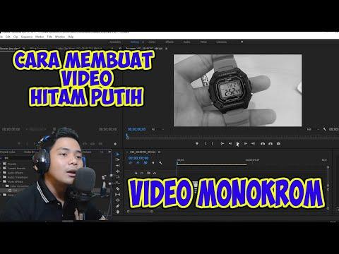 Tutorial Cara Membuat Video hitam putih (MONOKROM) di Adobe Premier pro CC