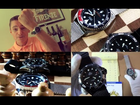 Duel For The Best Automatic Diver Watch Around $200 (Part 2) - Seiko SKX009 Vs. Orient Black Ray II