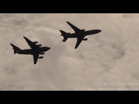 2018 Joint Base MDL Open House & Air Show - KC-10 & C-17 Air Refueling flyby
