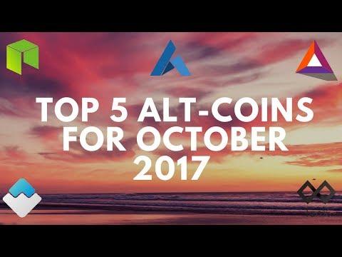 Top 5 Alt Coin Picks For October 2017 | NEO, BAT & More!