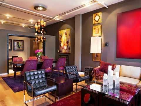 Grey And Burgundy Living Room Idea Youtube