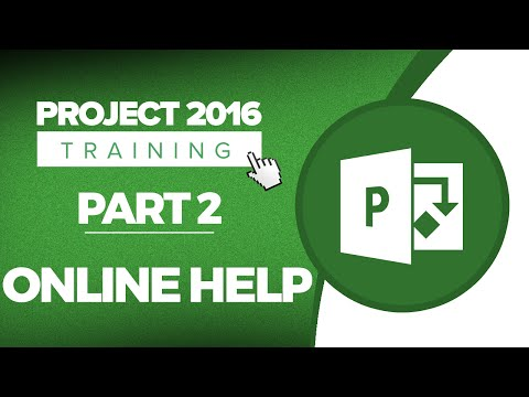 Project 2016 for Beginners Part 2: How to Use Online Help in MS Project 2016