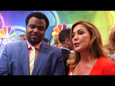 Mr. Robinson: Craig Robinson & Peri Gilpin2015 NBC Upfronts Red Carpet s