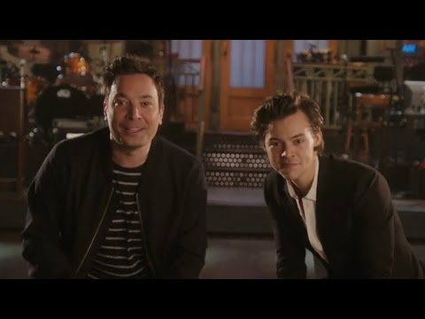 Harry Styles & Jimmy Fallon Try To Outshine Each Other In SNL Promo
