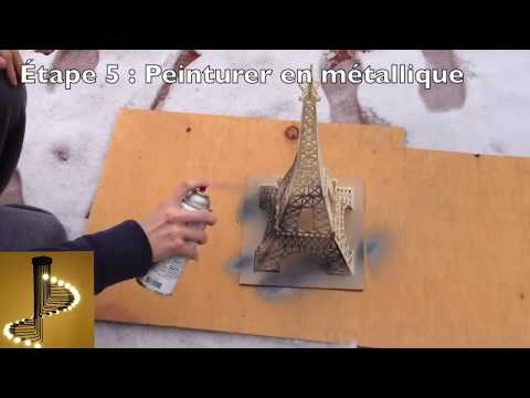 How to make the Eiffel Tower with wooden stick | Special Eiffel Tower of Valentine's Day