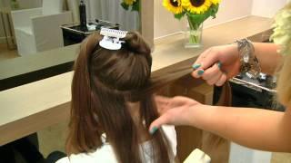 Fryzura z warkoczami na włosach długich wg Karoliny odc. 5