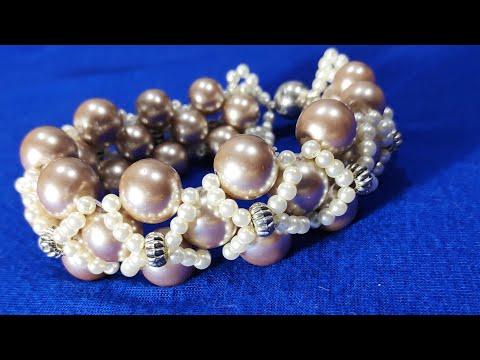 Нарядный браслет из бусин. Elegant Beaded Bracelet.سوار من الخرز الأنيق