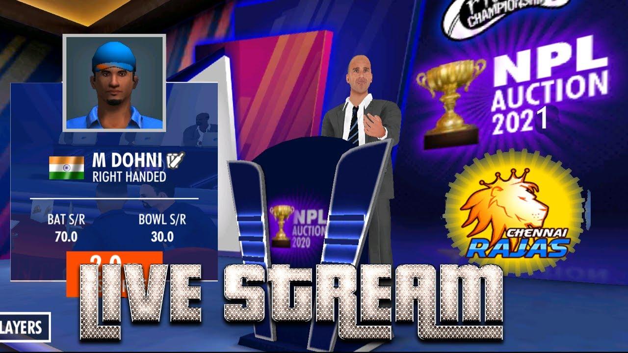 WCC 3 - Dhoni par lagi boli - Chennai team auction - NPL vs RCPL IPL 2021 World cricket Championship