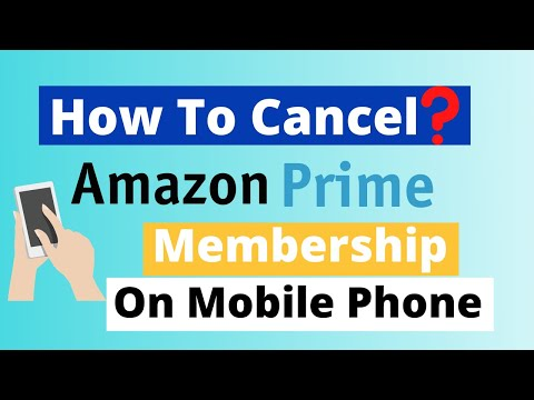 how to cancel end amazon prime membership on android mobile app youtube. Black Bedroom Furniture Sets. Home Design Ideas