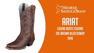 Ariat Women's Legend Boots Square Toe Brown Oiled Rowdy 10001046