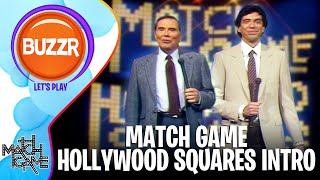 Match Game Hollywood Squares Hour - Introduction of Episode 2 | BUZZR