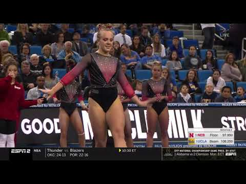Abby Johnston (Nebraska) 2019 Floor vs UCLA 9.75