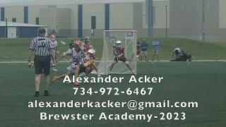 Alexander Acker   2023   Goalie   Brewster Academy