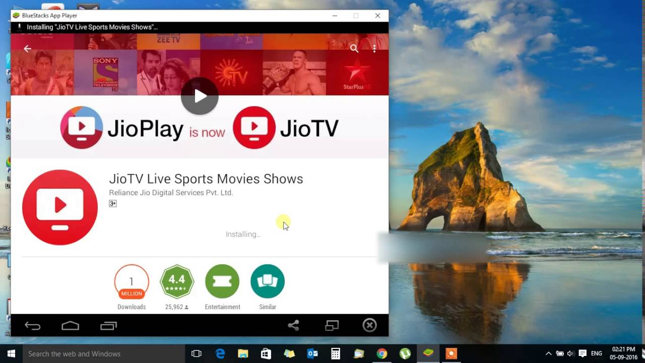 How to install Jio TV or Jio Play on PC