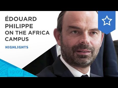 Visit of French Prime Minister Édouard Philippe on the ESSEC Africa-Atlantic Campus