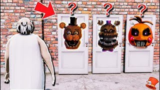 WHICH ANIMATRONIC HORROR DOOR WILL GRANNY CHOOSE? (GTA 5 Mods For Kids FNAF RedHatter)