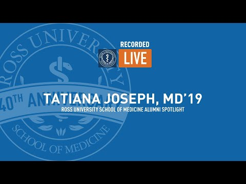 Facebook Live Chat With Tatiana Joseph, MD'19