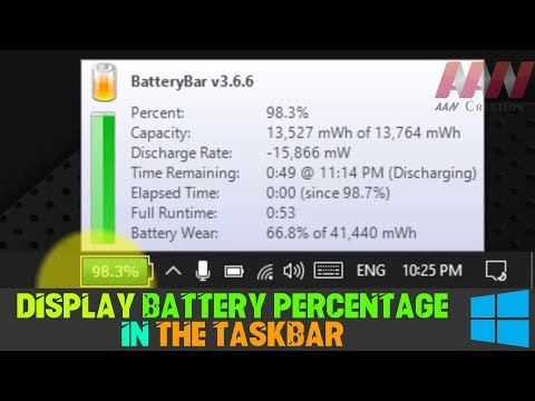 How to Display Battery Percentage in the Taskbar on Windows 10