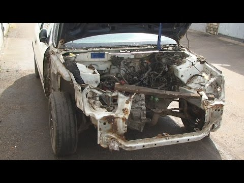 Ремонт морды после аварии Honda Civic #1