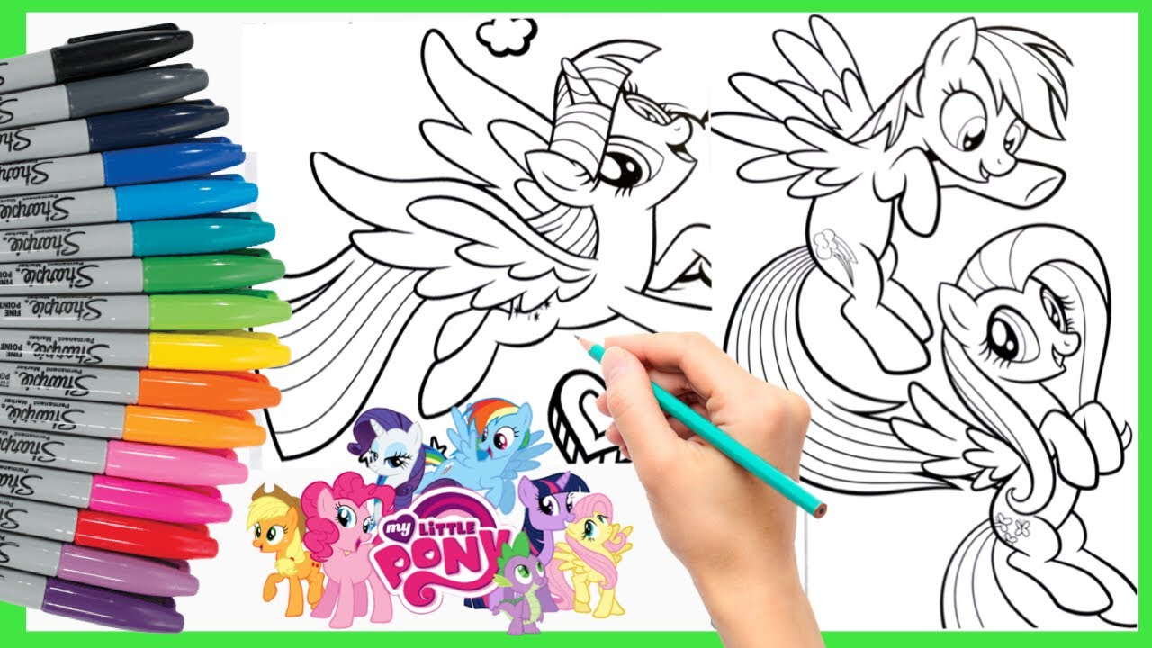 Kuda Poni Mewarnai My Little Pony Coloring Rainbow Dash Fluttershy Twilight Sparkle Youtube
