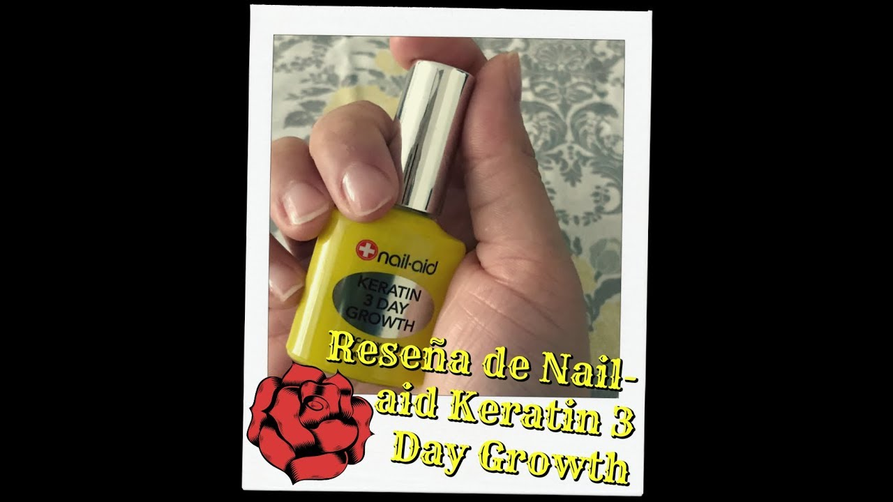Reseña De Nail Aid Keratin 3 Day Growth