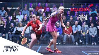 Squash: Dunlop British Nationals 2018 - Evans v Waters - Women