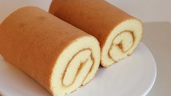 How to make a fluffy and delicious swiss roll cake💕