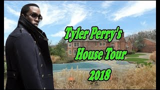 """Tyler Perry's"" House Tour In Atlanta  2018 inside & Outside $17 5 Million"