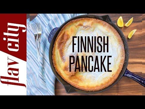 Finnish Pancake Recipe - Flavcity with Bobby