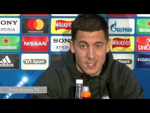 Eden Hazard pre Chelsea vs Barcelona