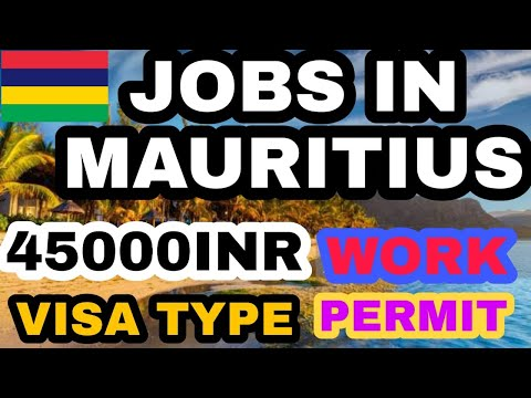 Jobs in mauritius|jobs in mauritius for indian|jobs in mauritius 2020|Mauritius job vacancy,