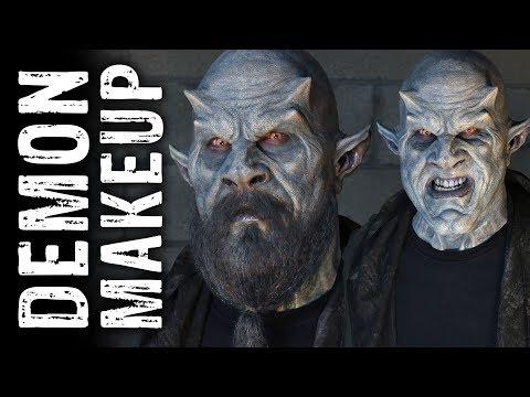 Blue Demon Makeup Process
