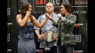 Bellator 213: Ilima-Lei Macfarlane vs. Valerie Letourneau Press Conference Staredown - MMA Fighting