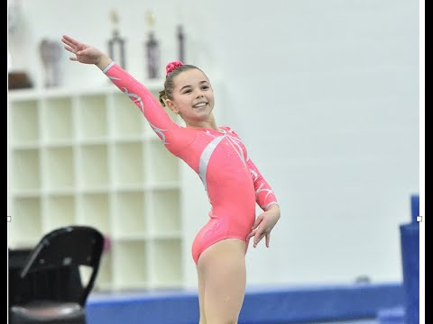 Katie Scores 9.925 on Floor! Level 7 | Gymnastics | The Coral Girls