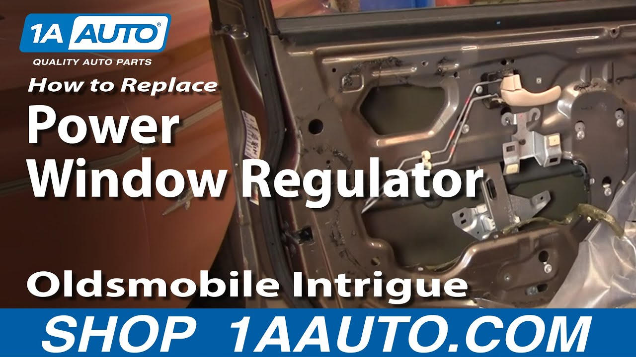 How To Install Repair Replace Broken Power Window Regulator Olds Intrigue 9802 1AAuto  YouTube