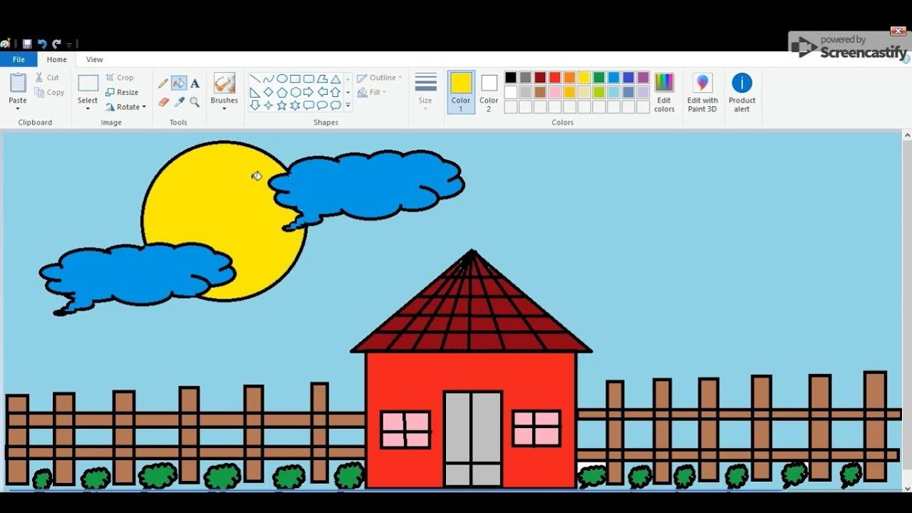 MS Paint | How to make easy drawing in MS Paint ...