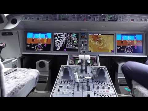 A tour of the Airbus A220-300 cockpit air Baltic  YL-AAS
