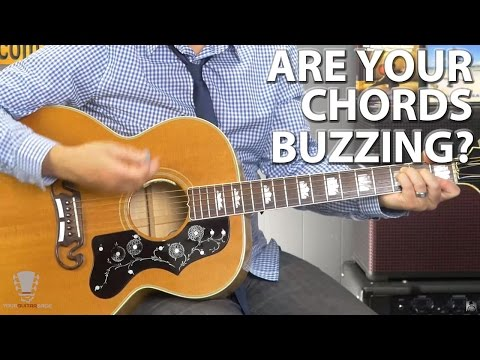 Are Your Guitar Chords Buzzing?  Use This One Simple Technique