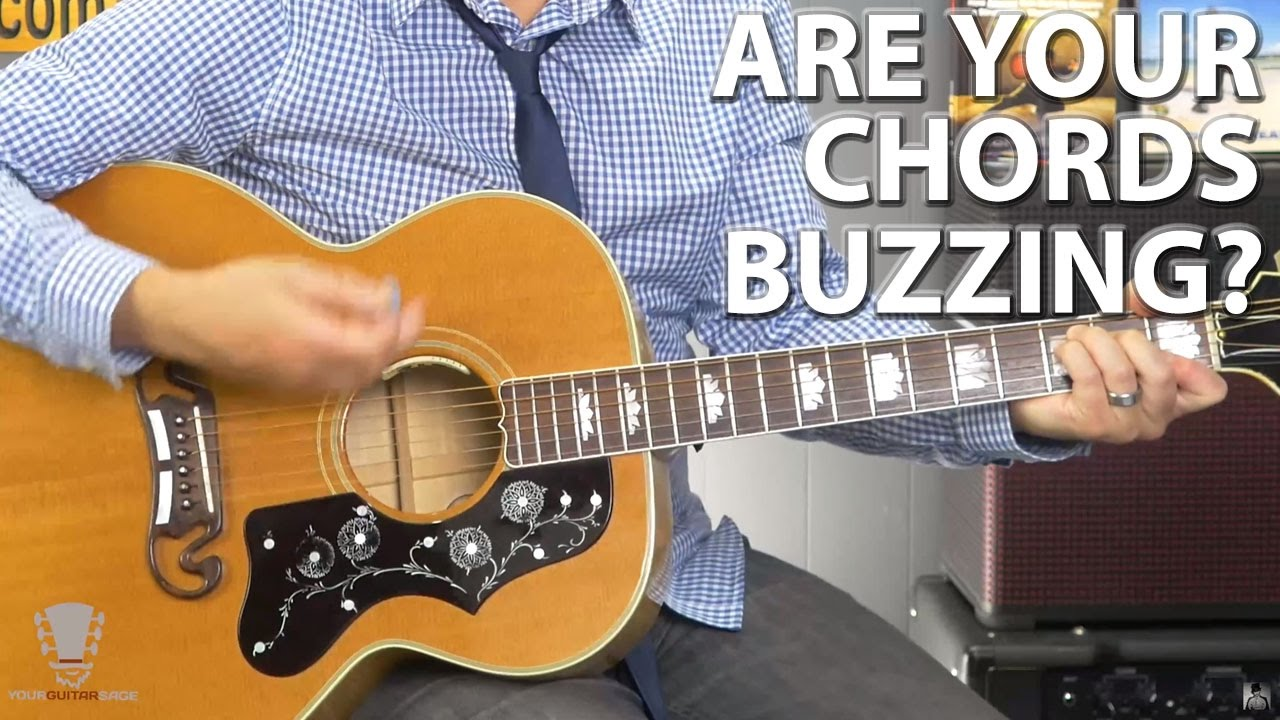are your guitar chords buzzing use this one simple technique youtube. Black Bedroom Furniture Sets. Home Design Ideas