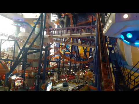 Roller Coaster in Times Square Shopping Mall Kuala Lumpur  Malaysia x264