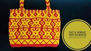 Download Video Part 10. DIY Macrame tote bag, membuat motif bagian bawah tas tali kur motif kalimantan MP3 3GP MP4