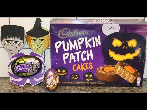 Cadbury Halloween Chocolates: Pumpkin Patch Cakes, Ghooost Egg & Crunchy Spider Review