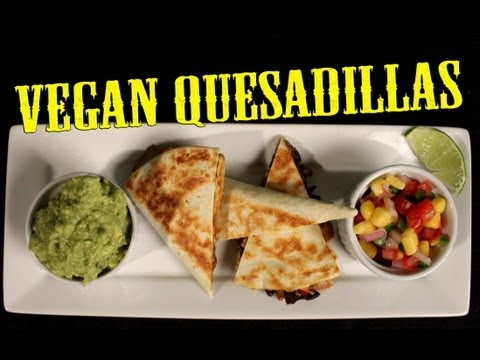 Quesadilla Recipe | Vegan | The Vegan Zombie