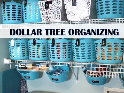 Dollar Tree Organizing Makeover!  Pantry & Laundry Room