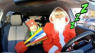 Santa Sleeping in My Car or Wake Up Santa Claus | Christmas Story by Timko Kid