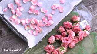 Dried Rose Petals at Home - Easy DIY - With Oven & Without Oven