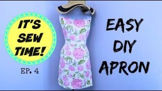 DIY APRON, BEGINNER SEWING PROJECT