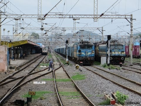 Devastating Chennai Rajdhani Express: High Speed Station Skips Compilation