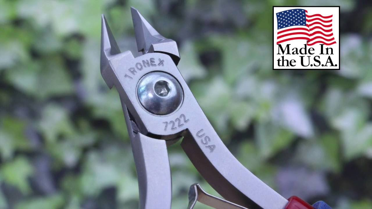 Tronex 7222 Relieved Head Cutters Demo Review in HD - YouTube